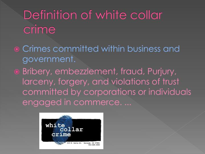 white collar crime vs street crime Blue-collar crime refers to crime that is most likely committed by people from a lower social class, while white-collar crime refers to crime that is most likely committed by people from a higher.