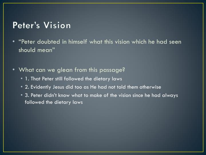Peter's Vision