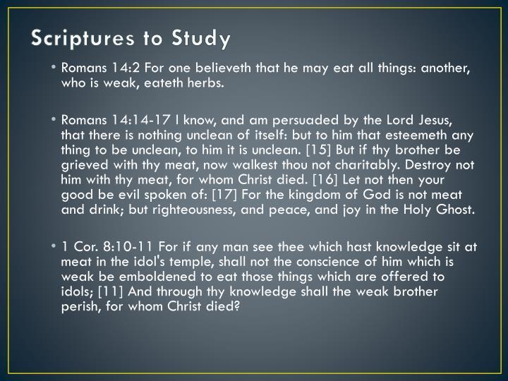 Scriptures to Study