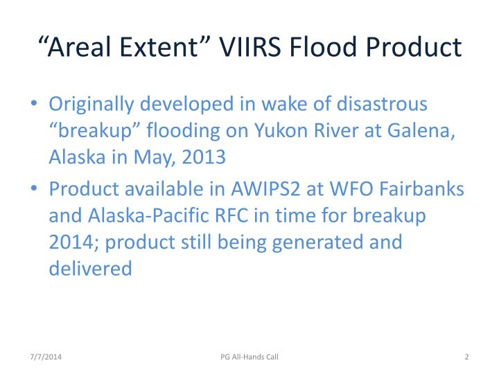 Areal extent viirs flood product