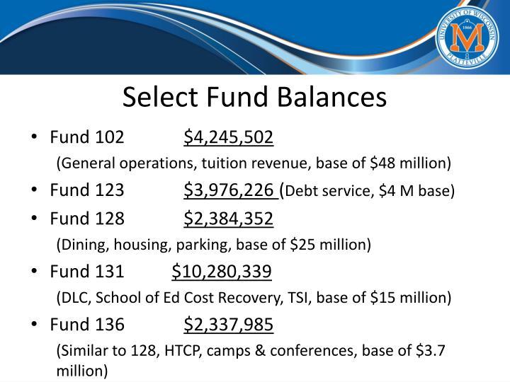 Select Fund Balances