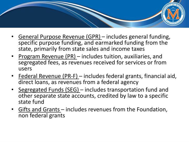 General Purpose Revenue (GPR)