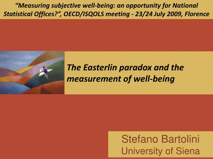 the easterlin paradox and the measurement of well being n.