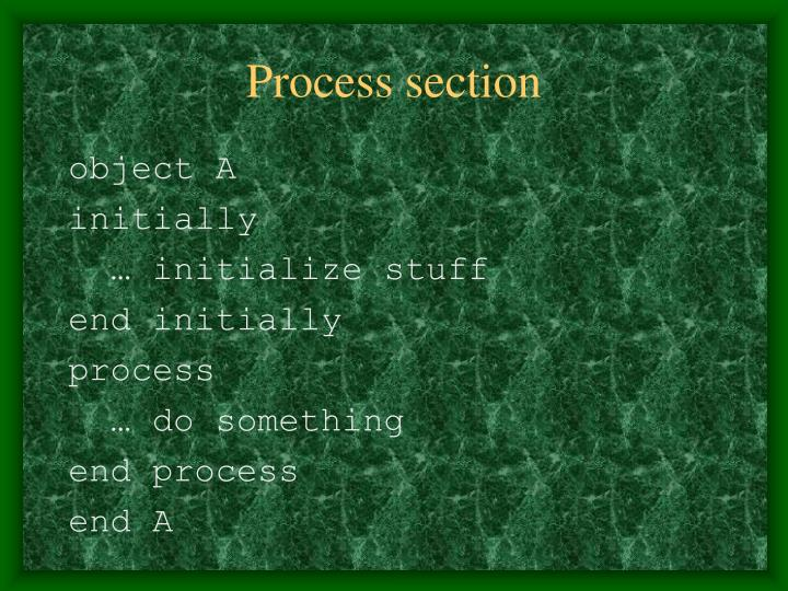 Process section