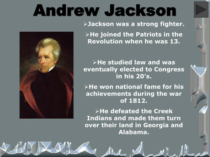 an analysis of the hall of fame for andrew jackson an american politician George herbert walker bush (born june 12, 1924) is an american politician who served as the 41st president of the united states from 1989 to 1993 prior to assuming the presidency, bush served as the 43rd vice president of the.