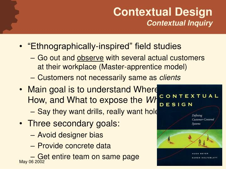 Contextual design contextual inquiry