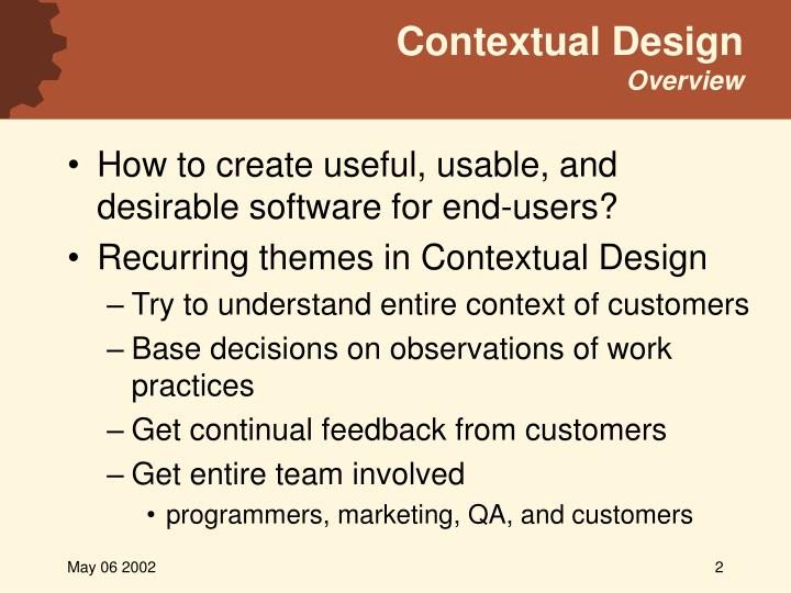 Contextual design overview