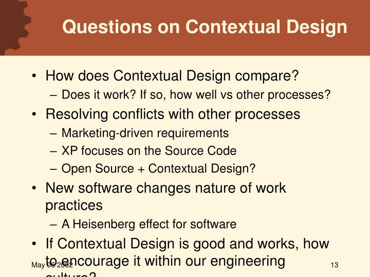 Questions on Contextual Design