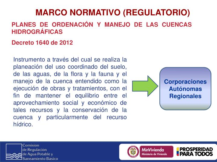 MARCO NORMATIVO (REGULATORIO)