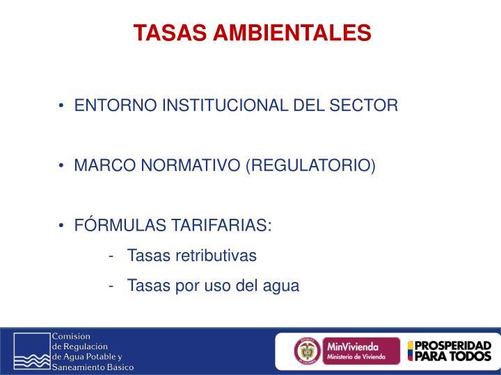 TASAS AMBIENTALES