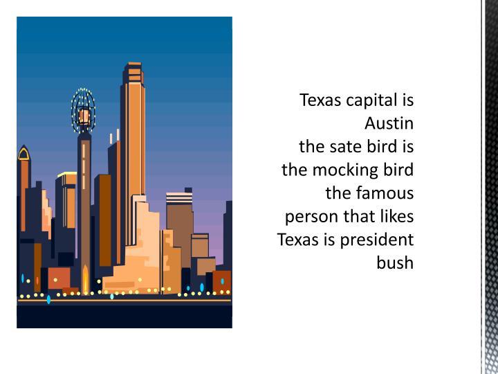 Texas capital is Austin