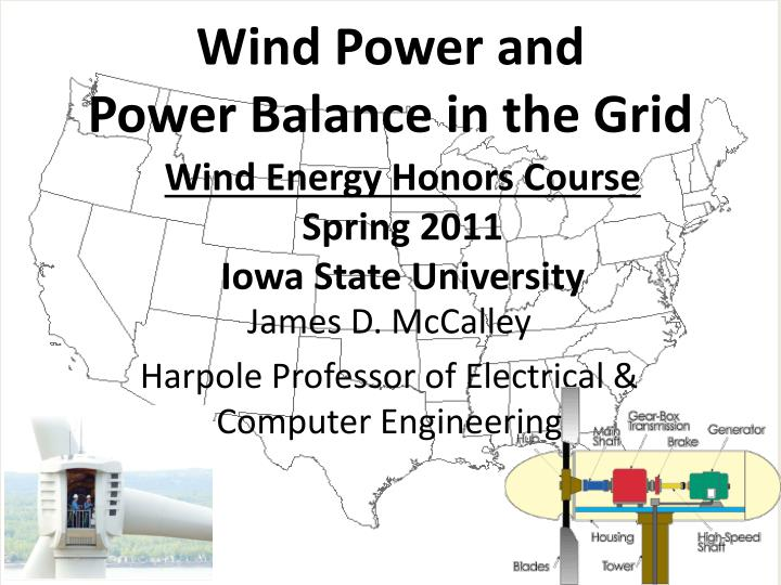 wind energy honors course spring 2011 iowa state university n.