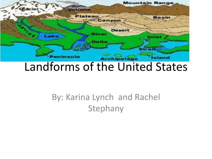 landforms of the united states n.
