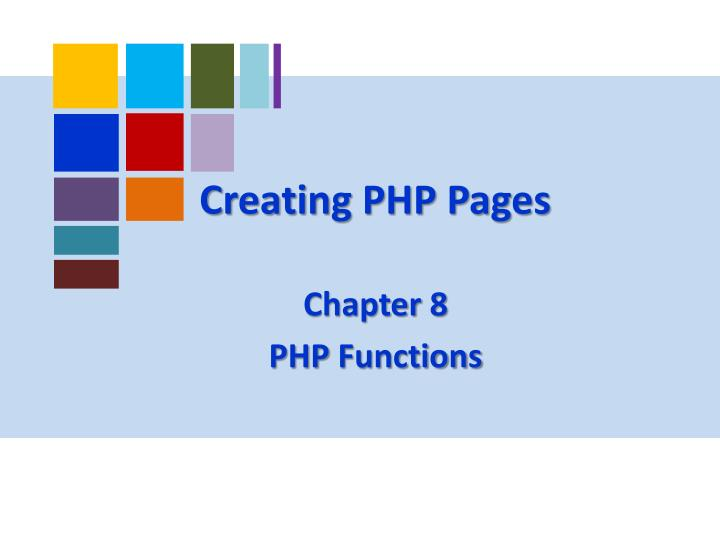 creating php pages n.