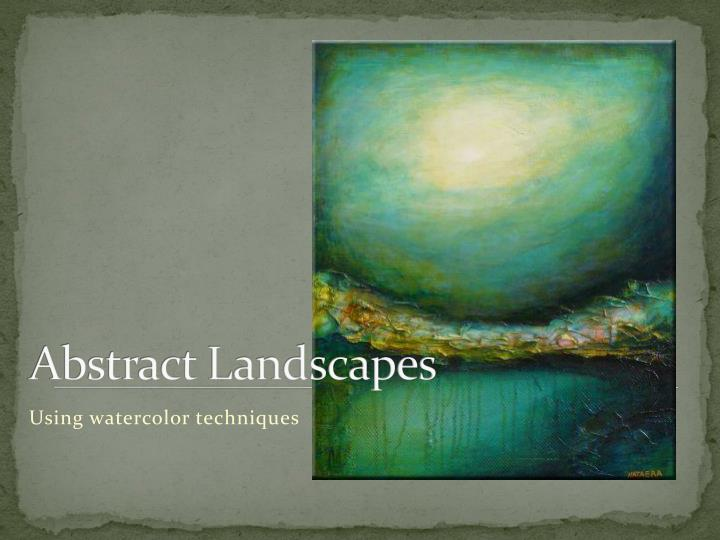 abstract landscapes n.