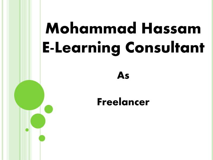 mohammad hassam e learning consultant as freelancer n.