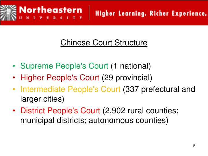 Chinese Court Structure