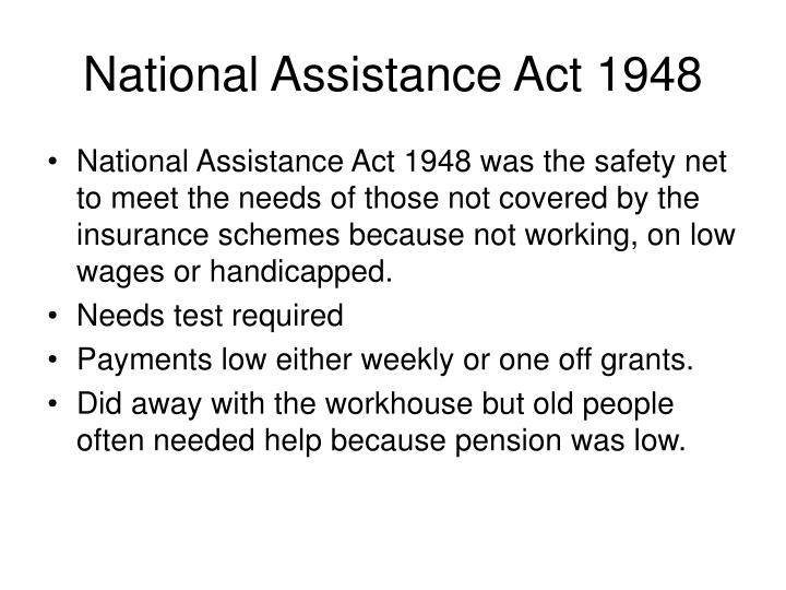 National Assistance Act 1948