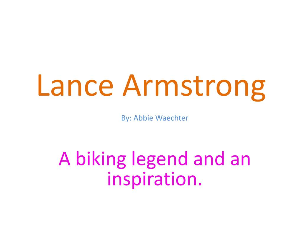 Personalities lance armstrong -its not about the bike -my journey b….