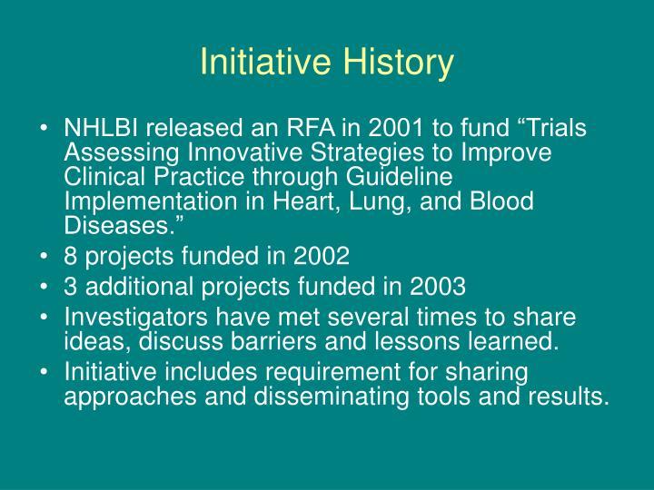 Initiative history