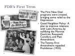 fdr s first term