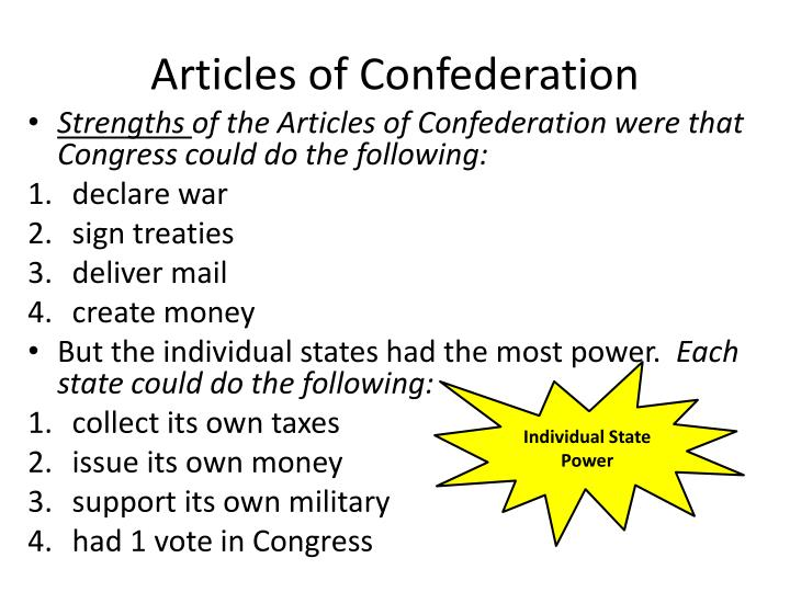 Articles of Confederation