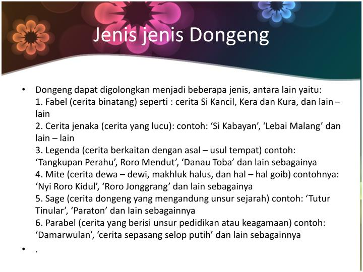 Ppt Dongeng Powerpoint Presentation Id 2717920