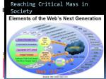 reaching critical mass in society