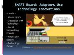 smart board adopters use technology innovations