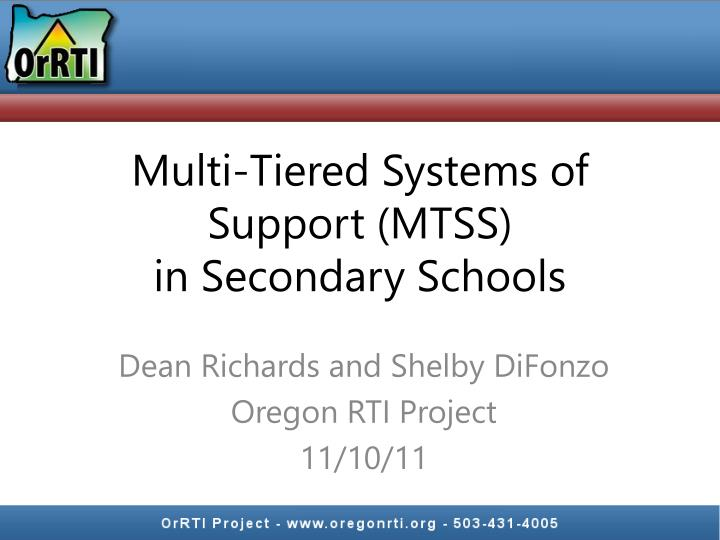 multi tiered systems of support mtss in secondary schools n.