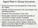 agent role in group insurance