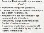 essential features group insurance cont d1