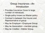 group insurance an introduction