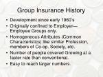 group insurance history