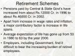 retirement schemes