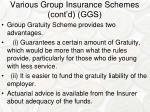 various group insurance schemes cont d ggs1