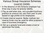 various group insurance schemes cont d ggs2