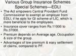 various group insurance schemes special schemes edli1