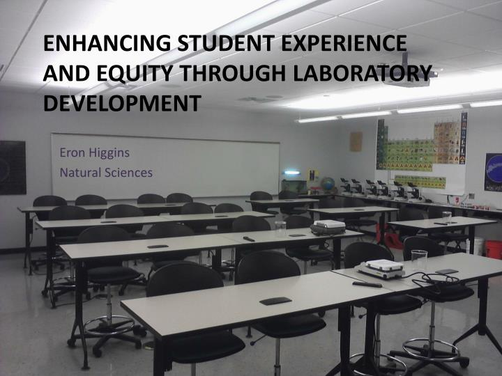 enhancing student experience and equity through laboratory development n.