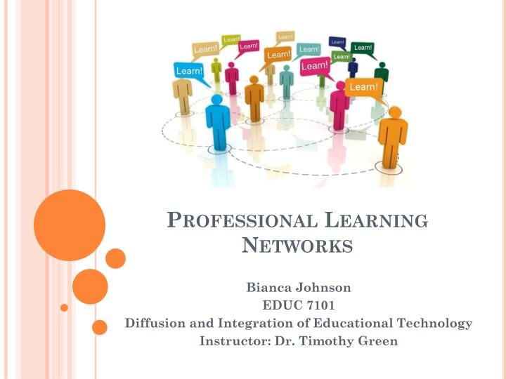 professional learning networks n.