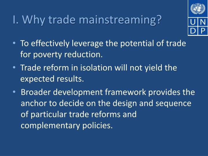 I. Why trade mainstreaming?