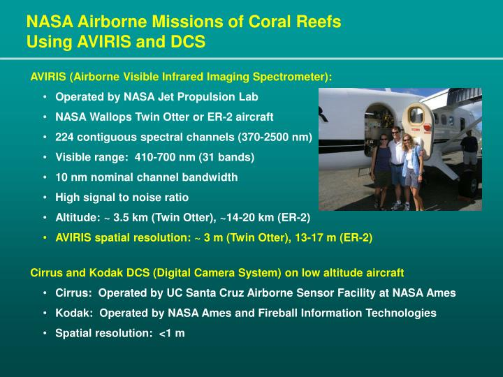 NASA Airborne Missions of Coral Reefs