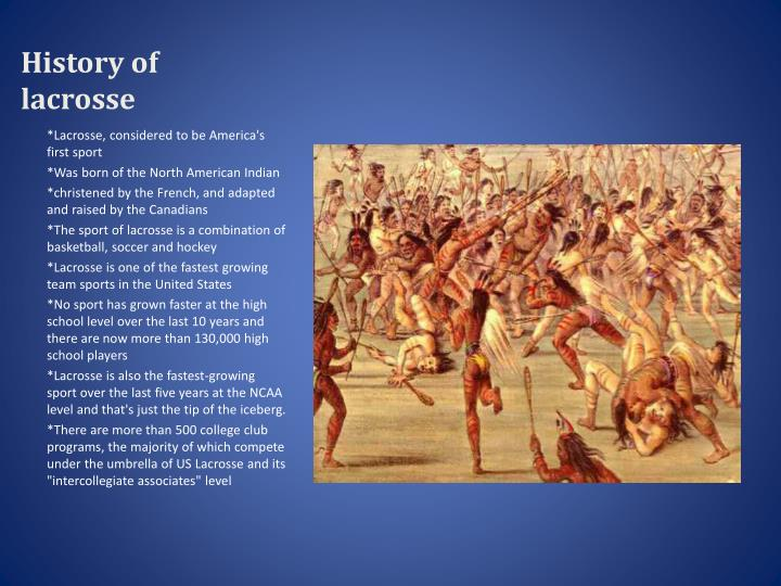 ppt - history of lacrosse powerpoint presentation