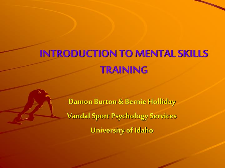 introduction to mental skills training n.