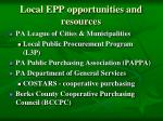 local epp opportunities and resources