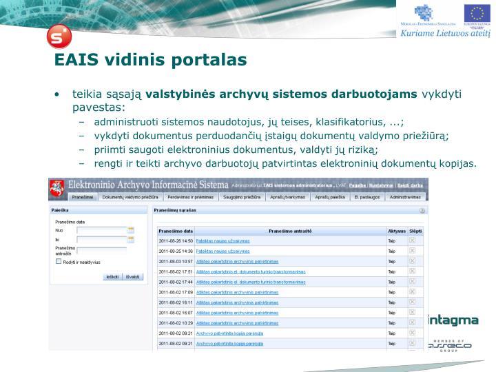 EAIS vidinis portalas