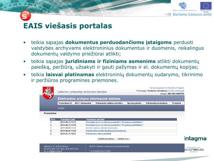 EAIS viešasis portalas