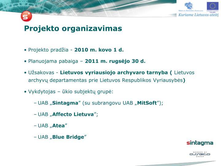 Projekto organizavimas