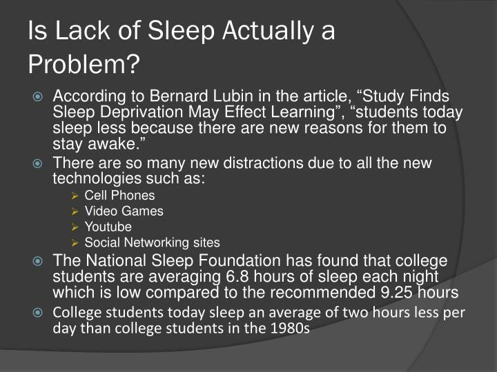 lack of sleep effects students gpa Literature review, definitions and general effects of sleep are reviewed the second section discusses the influences of sleep on academic performance among college students also, the influences of sleep on job performance through national reports, clinic cases, and the cost of poor sleep habits are discussed.