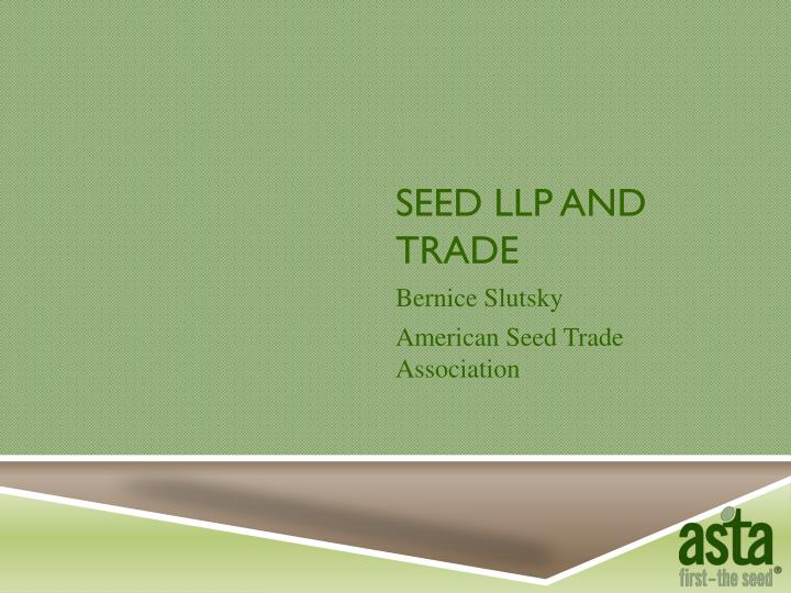 seed llp and trade n.